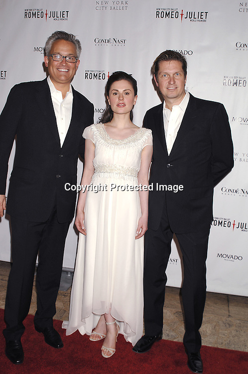 Mark Badgley, Anna Paquin and James Mischka..arriving at The New York City Ballet Annual Spring Gala ..on May 1, 2007 at The New York State Theatre. The World Premiere of Romeo and Juliet was danced. ..Robin Platzer, Twin Images......212-935-0770..