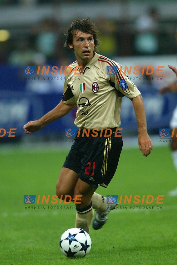 Milano 27/7/2004 Trofeo Tim - Tim tournament <br /> <br /> Andrea Pirlo Milan<br /> <br /> <br /> <br /> Inter Milan Juventus <br /> <br /> Inter - Juventus 1-0<br /> <br /> Milan - Juventus 2-0<br /> <br /> Inter - Milan 5-4 d.cr - penalt.<br /> <br /> <br /> <br /> Photo Andrea Staccioli Insidefoto