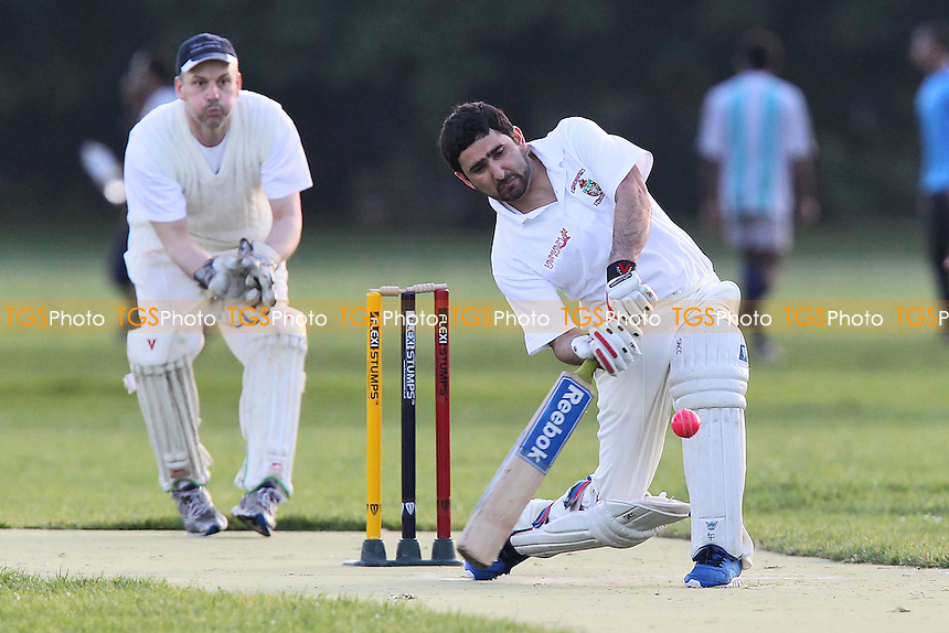 Stoke Newington CC (batting) vs London Fields CC - Victoria Park Community Cricket League at Victoria Park, London - 06/06/12 - MANDATORY CREDIT: Gavin Ellis/TGSPHOTO - Self billing applies where appropriate - 0845 094 6026 - contact@tgsphoto.co.uk - NO UNPAID USE.