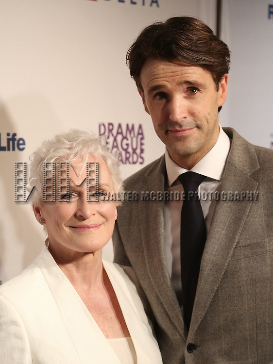 Glenn Close and Michael Xavier attends the 83rd Annual Drama League Awards Ceremony  at Marriott Marquis Times Square on May 19, 2017 in New York City.
