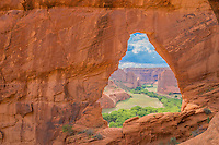 The Window,  Canyon de Chelly National Monument, Arizona, Large sandstone natural arch framing canyon