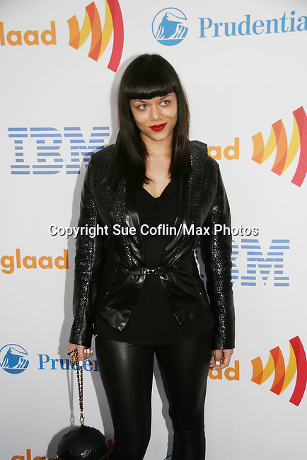 Maya Luz - Project Runway - 2010 wearing her own line at the 21st Annual GLAAD Media Awards on March 13, 2010 at the New York Marriott Marquis, New York City, NY. (Photo by Sue Coflin/Max Photos)