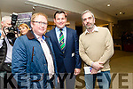 The launch of the new Kerry Recreation and Sports Partnership Strategic Plan 2017- 2022 in Siamsa Tire on Monday night pictured Greg Ryan, Ballybunion, andy smith , district office listowel and John Harty, Taste Kerry