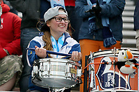 Piscataway, NJ - Sunday April 30, 2017: member of Sky Blue supporters' group, Cloud Nine during a regular season National Women's Soccer League (NWSL) match between Sky Blue FC and FC Kansas City at Yurcak Field.