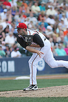 Richmond Flying Squirrels pitcher Chris Heston #33 on the mound during a game against the Trenton Thunder at The Diamond on May 27, 2012 in Richmond, Virginia. Richmond defeated Trenton by the score of 5-2. (Robert Gurganus/Four Seam Images)