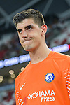 Chelsea Goalkeeper Thibaut Courtois getting into the field during the International Champions Cup 2017 match between FC Internazionale and Chelsea FC on July 29, 2017 in Singapore. Photo by Marcio Rodrigo Machado / Power Sport Images