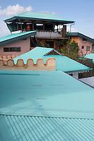 Afrique/Afrique de l'Est/Tanzanie/Zanzibar/Ile Unguja/Stone Town: Hotel Emerson&Green dans une ancienne demeure de l'empire Swahili le restaurant terrasse qui domine les toits de la vieille ville