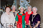 Joanie Buckley, Maureen Buckley, Aine O'Sullivan, Breda Sheehan and Nora Fleming at the Muckross Christmas party in the Killarney Oaks Hotel on Sunday