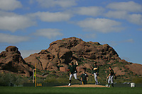 Barry Zito. Baseball: Oakland Athletics spring training camp at Papago Park. Phoenix, AZ 2/23/2005 MANDATORY CREDIT: Brad Mangin/Sports Illustrated