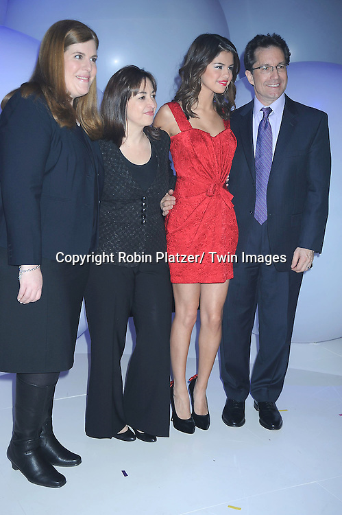 Rita Ferro, Selena Gomez, Carolina Lightcap and Gary Marsh attending The Disney Kids and Family Upfront 2011-2012  on March 16, 2011 at Gotham Hall in New York City.