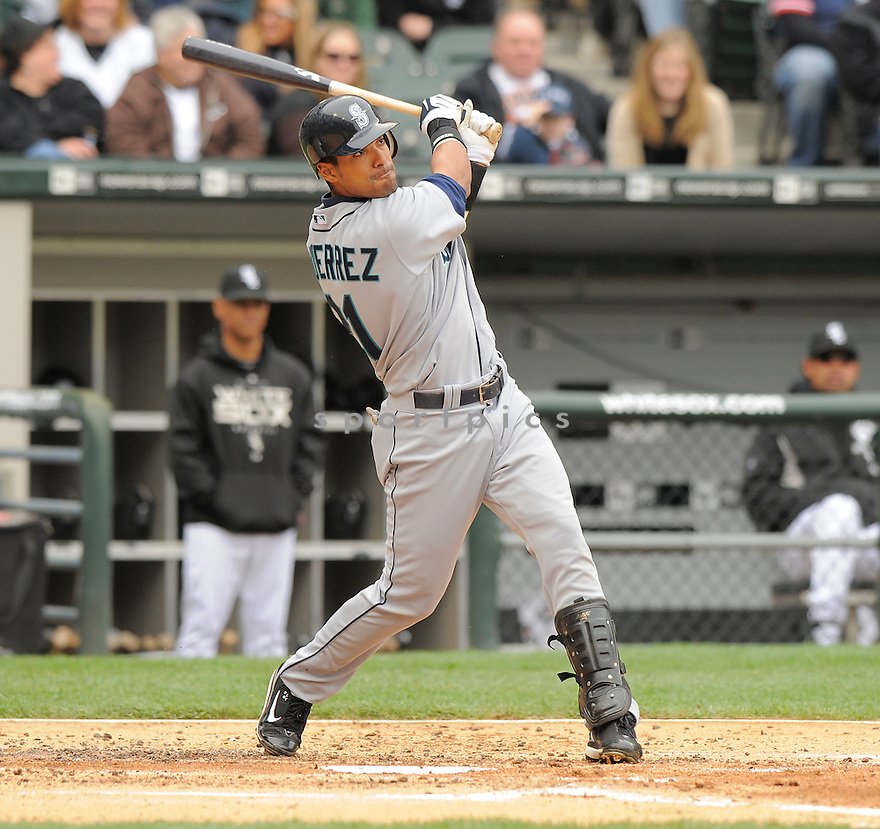 FRANKLIN GUTIERREZ, of the Seattle Mariners  , in action  during the Mariners  game against the Chicago White Sox on April 28, 2009 in Chicago, IL.  The White Sox beat  the Mariners  6-3  in Chicago,
