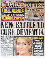 Daily Express<br /> JK Rowling by CJ<br /> tearsheet