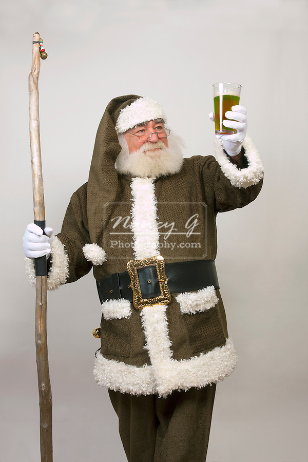 An Irish Santa Claus with Green Beer