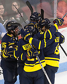- The visiting Merrimack College Warriors defeated the Boston University Terriers 4-1 to complete a regular season sweep on Friday, January 27, 2017, at Agganis Arena in Boston, Massachusetts.The visiting Merrimack College Warriors defeated the Boston University Terriers 4-1 to complete a regular season sweep on Friday, January 27, 2017, at Agganis Arena in Boston, Massachusetts.