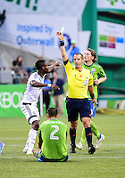 Seattle, Washington - Saturday, August 1, 2015: The visiting Vancouver Whitecaps beat Seattle Sounders FC 3-0 in MLS action on the Xbox Pitch at CenturyLink Field.