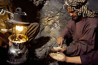 Miners looking for emeralds at 150 meters deep in to the mountain at 4000 meters high, in the Panshir valley.