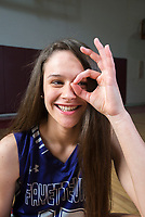 NWA Democrat-Gazette/CHARLIE KAIJO Division I Girls Player of the Year Sasha Goforth of Fayetteville High School poses for a portrait, Monday, March 12, 2018 at Springdale High School auxiliary gym in Springdale