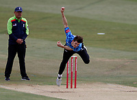 George Garton bowls for Sussex during Kent Spitfires vs Sussex Sharks, Vitality Blast T20 Cricket at The Spitfire Ground on 12th September 2020