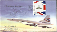 BNPS.co.uk (01202 558833)<br /> Pic: ChaucerAuctions/BNPS<br /> <br /> ***Please Use Full Byline***<br /> <br /> FYI: Barbara Harmer &amp; Mike Banister signed Internetstamps, 2009 Concorde, Queen of the Skies cover.<br /> Harmer, was the first qualified female Concorde pilot. She passed away in 2011.  <br /> <br /> <br /> Legendary airline pilot Mike Bannister is selling 100,000 pounds worth of his Concorde memorabilia so he can fund his daughter through flying school.<br /> <br /> Amy Bannister, 20, is hoping to following in her father's jet-stream to become a commercial airline pilot and is currently at a flight training school in Spain.<br /> <br /> The prestigious course is costing her a six figure sum.<br /> <br /> Her father Mike, 65, didn't want her burdened with debt at the start of her career and so stripped his study of Concorde relics, including cockpit instruments, and has put them up for sale at auction.