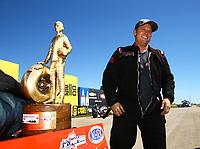 May 21, 2017; Topeka, KS, USA; NHRA pro mod driver Steve Jackson celebrates after winning the Heartland Nationals at Heartland Park Topeka. Mandatory Credit: Mark J. Rebilas-USA TODAY Sports
