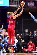 Washington, DC - July 13, 2018: Washington Mystics guard Elena Delle Donne (11) shots a three pointer during game between the Washington Mystics and Chicago Sky at the Capital One Arena in Washington, DC. The Mystics defeat the Sky 88-72 (Photo by Phil Peters/Media Images International)