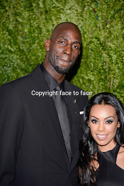 NBA's Kevin Garnett and Guest pictured at the CFDA and Vogue 2013 Fashion Fund Finalists Celebration at Spring Studios on November 11, 2013 in New York City.<br /> Credit: MediaPunch/face to face<br /> - Germany, Austria, Switzerland, Eastern Europe, Australia, UK, USA, Taiwan, Singapore, China, Malaysia, Thailand, Sweden, Estonia, Latvia and Lithuania rights only -