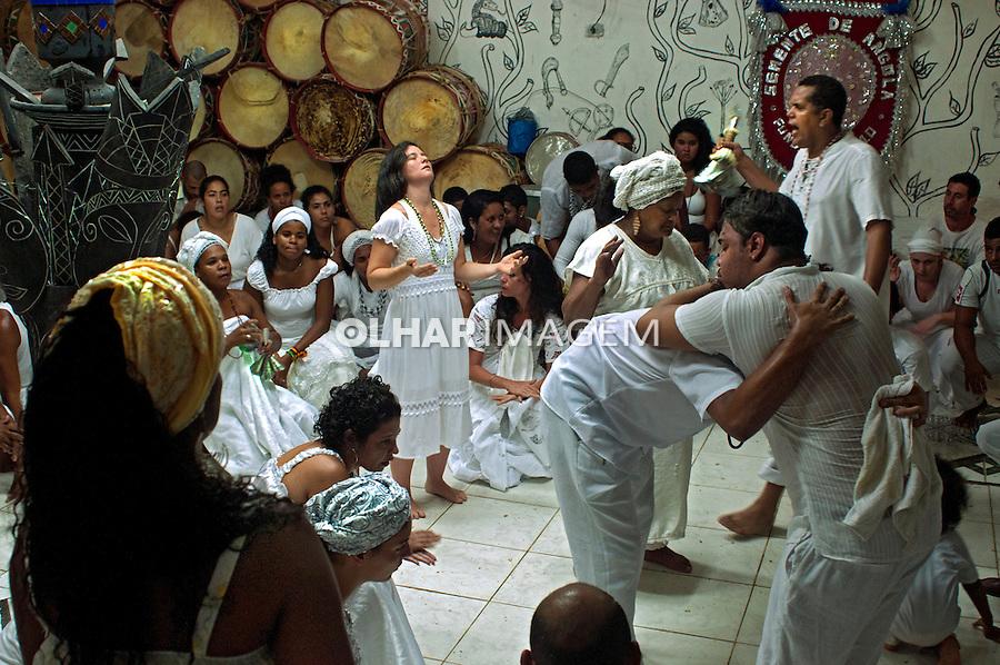 Toque de Oxala no Yle Axe Oxossi Guangoubira, Festa do Inhame. Recife. Pernambuco. 2014. Foto de Joao Urban.