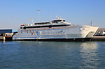 Maria Dolores, Virtu Ferries ship in the harbour port of Cadiz, Spain