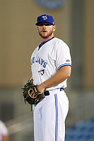 Dunedin Blue Jays relief pitcher Jackson McClelland (52) during a game against the Tampa Tarpons on June 2, 2018 at Dunedin Stadium in Dunedin, Florida.  Dunedin defeated Tampa 4-0.  (Mike Janes/Four Seam Images)