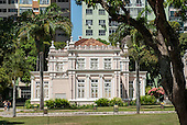 Belem, Para State, Brazil. Colonial neoclassical heritage building in the Praca da Republica.
