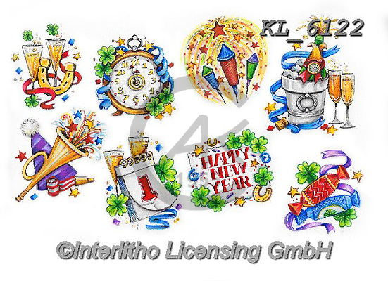 Interlitho-Theresa, NY, paintings+++++,8 new year images,KL6122,#ny#, EVERYDAY ,New Year's Eve<br />
