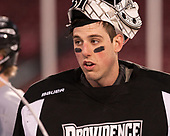 Hayden Hawkey (PC - 31) - The Providence College Friars practiced on the rink at Fenway Park on Friday, January 6, 2017.