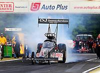May 15, 2015; Commerce, GA, USA; NHRA top fuel driver Larry Dixon during qualifying for the Southern Nationals at Atlanta Dragway. Mandatory Credit: Mark J. Rebilas-USA TODAY Sports