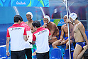 Japan team group (JPN), <br /> AUGUST 8, 2016- Water Polo : <br /> Men's Preliminary Round group A<br /> match between Japan - Brazil <br /> at Maria Lenk Aquatic Centre <br /> during the Rio 2016 Olympic Games in Rio de Janeiro, Brazil. <br /> (Photo by Koji Aoki/AFLO SPORT)
