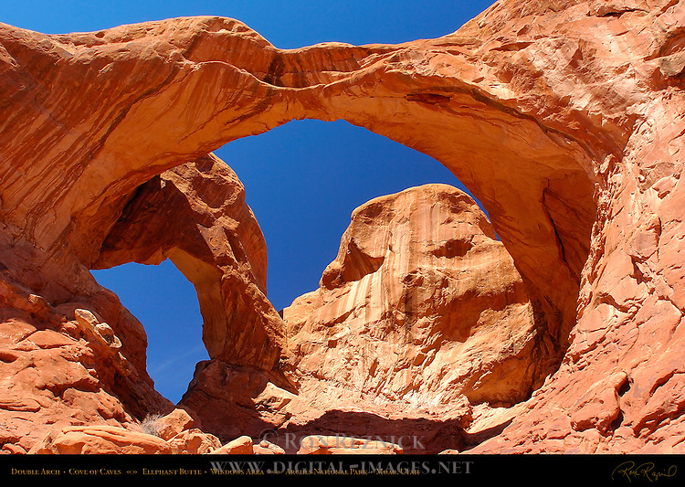 Double Arch, Cove of Caves, Windows Area, Arches National Park, Moab, Utah