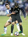 CD Leganes' Samuel Garcia (l) and Real Madrid's Alvaro Morata during La Liga match. April 5,2017. (ALTERPHOTOS/Acero)