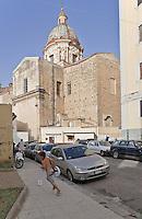 Palermo: back of Carmine Maggiore church of the(13th century, Albergheria district.<br /> Palermo:il retro della chiesa del Carmine Maggiore(XIII sec.) nel quartiere Albergheria.