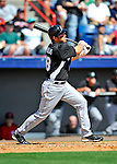 2 March 2011: Florida Marlins infielder Wes Helms in action during a Spring Training game against the Washington Nationals at Space Coast Stadium in Viera, Florida. The Nationals defeated the Marlins 8-4 in Grapefruit League action. Mandatory Credit: Ed Wolfstein Photo