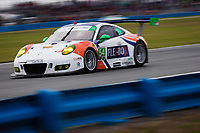 26-29 January, 2017, Daytona Beach, Florida USA<br /> 54, Porsche, Porsche 911 GT3 R, GTD, Jonathan Bennett, Colin Braun, Nic Jonsson, Patrick Long<br /> &copy;2017, Barry Cantrell<br /> LAT Photo USA