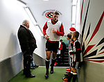 Jack O'Connell of Sheffield Utd in from warm up during the Championship match at Bramall Lane Stadium, Sheffield. Picture date 26th December 2017. Picture credit should read: Simon Bellis/Sportimage