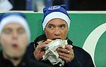 An Everton fan eating a pie<br /> - Barclays Premier League - Everton vs Leicester City - Goodison Park - Liverpool - England - 19th December 2015 - Pic Robin Parker/Sportimage
