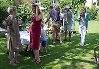 Garden party, Thackston, Somerset, England, UK