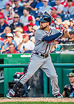 8 July 2017: Atlanta Braves outfielder Ender Inciarte in action against the Washington Nationals at Nationals Park in Washington, DC. The Braves shut out the Nationals 13-0 to take the third game of their 4-game series. Mandatory Credit: Ed Wolfstein Photo *** RAW (NEF) Image File Available ***
