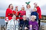 Ready for a run for fun at the Santa Fun run in memory of Fiona Moore, in the Tralee Bay Wetlands on Sunday. Kneeling: Sarah Keane (Castlegregory), Molly O'Donoghue (Camp) and Carla Quilter (Castlegregory). Standing: Anna Sheehy and Lena Mansfield from Ballymac, Helen Finn (Fenit), Louise Porter (Spa) and Micheal and Susan Keane (Castlegregory).