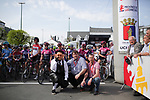 Ready for the start of the 2018 Liege-Bastogne-Liege Femmes running 136km from Bastogne to Ans, Belgium. 22nd April 2018.<br /> Picture: ASO/Thomas Maheux | Cyclefile<br /> All photos usage must carry mandatory copyright credit (&copy; Cyclefile | ASO/Thomas Maheux)