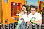 PLAYGROUND: Mike, Margaret and Jessica Lynch from Tralee came to see the new Ardfert Playground the official opening on Tuesday afternoon.