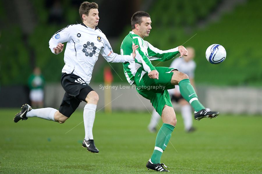 MELBOURNE, AUSTRALIA - SEPTEMBER 11, 2010: Grand Final of the 2010 Alanic VPL between Green Gully and Richmond at AAMI Park on September 11, 2010 in Melbourne, Australia. (Photo by Sydney Low / Asterisk Images)