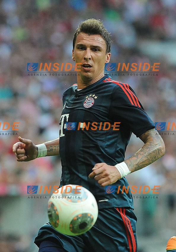 Mario MANDZUKIC (FC Bayern Muenchen)<br /> 24/07/2013 Monaco, Allianz Arena.<br /> Bayern Monaco vs FC Barcelona<br /> Uli Hoeness Cup<br /> Foto  Christian Kolbert / Expa /Insidefoto