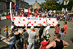 The publicity caravan passes by ahead of the race during Stage 7 of the 2018 Tour de France running 231km from Fougeres to Chartres, France. 13th July 2018. <br /> Picture: ASO/Bruno Bade | Cyclefile<br /> All photos usage must carry mandatory copyright credit (&copy; Cyclefile | ASO/Bruno Bade)