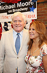 Phil Donahue and Marlo Thomas attends the Broadway Opening Night Performance for 'Michael Moore on Broadway' at the Belasco Theatre on August 10, 2017 in New York City.